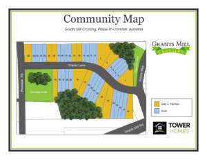 Grants Mill Crossing, Phase III, Community Map