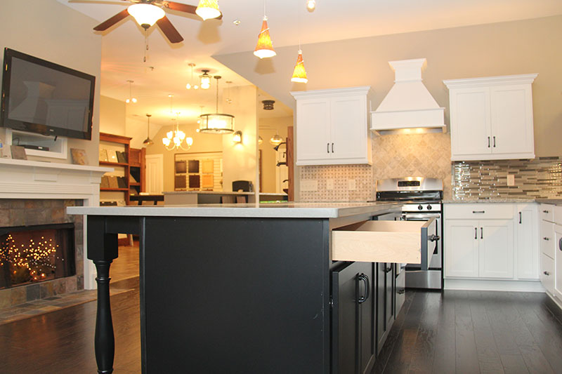 customize your new home with options like this kitchen in the design center