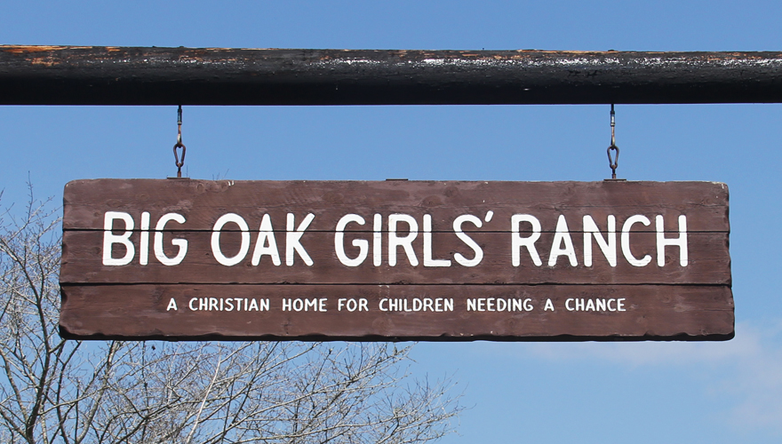 Big Oak Girls Ranch Entrance