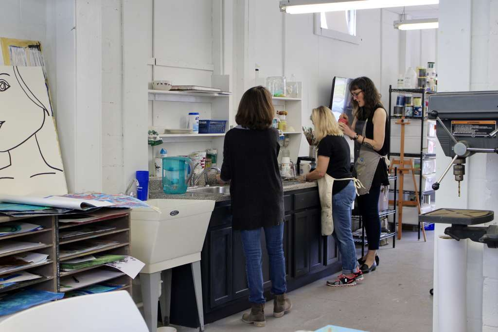 Studio teachers prepare for art classes