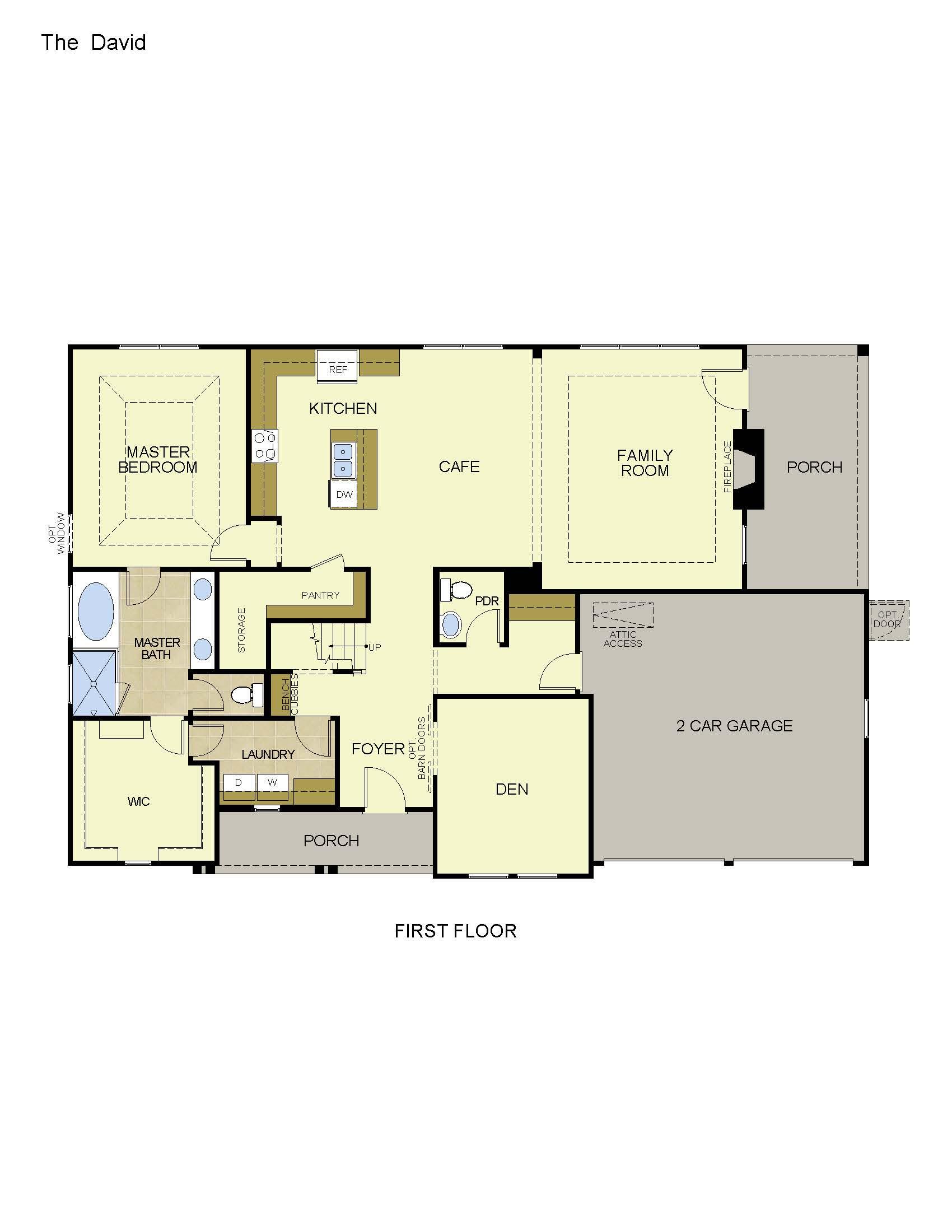 David homes floor plans quot fredericksburg quot plan by for David homes floor plans