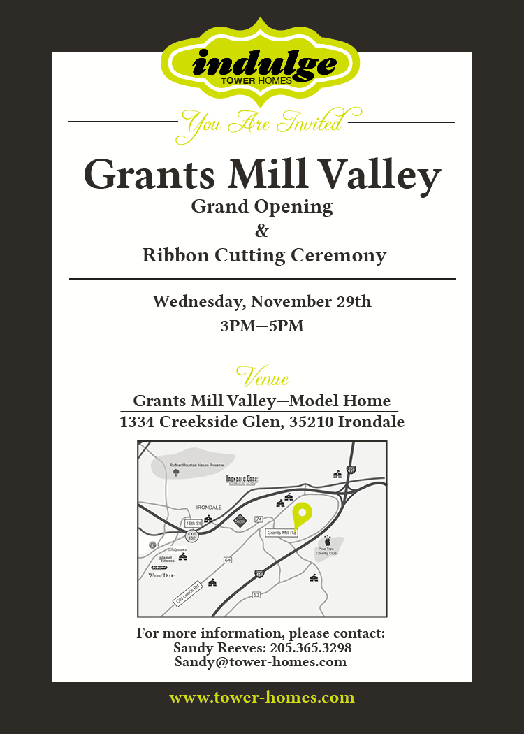 Grants Mill Valley_Grand Opening Invitation_Tower Homes