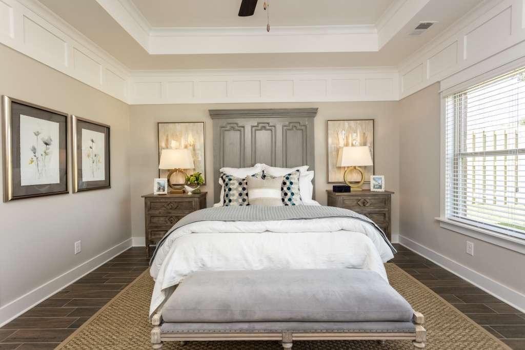 Master bedroom in Woodridge model home - New construction homes in Gardendale AL
