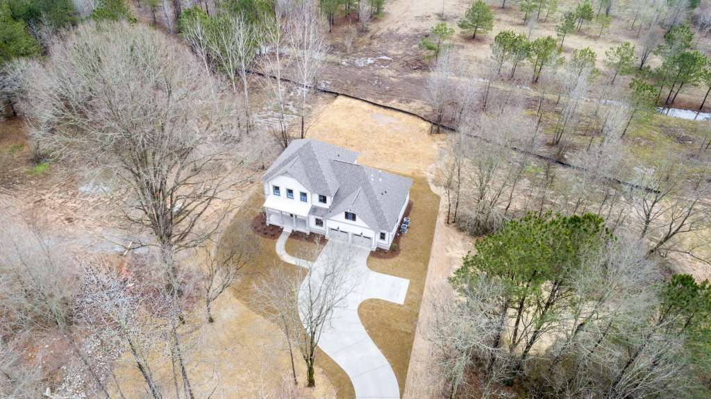 Cahaba Farms in Trussville - aerial view of model home