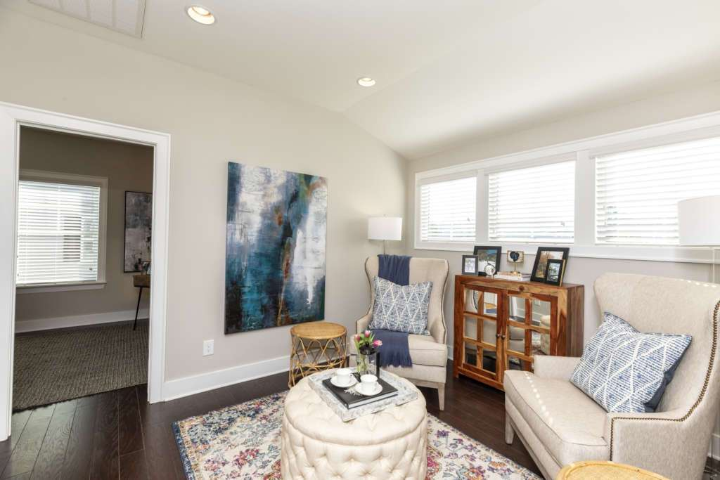 A sitting room in an Oxmoor village new home