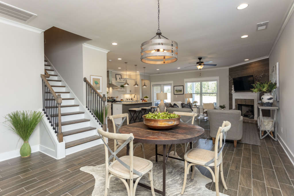the kitchen in a hamilton floor plan home