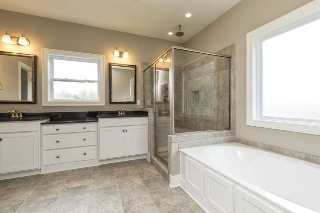 A brand new bathroom in a new Tower home