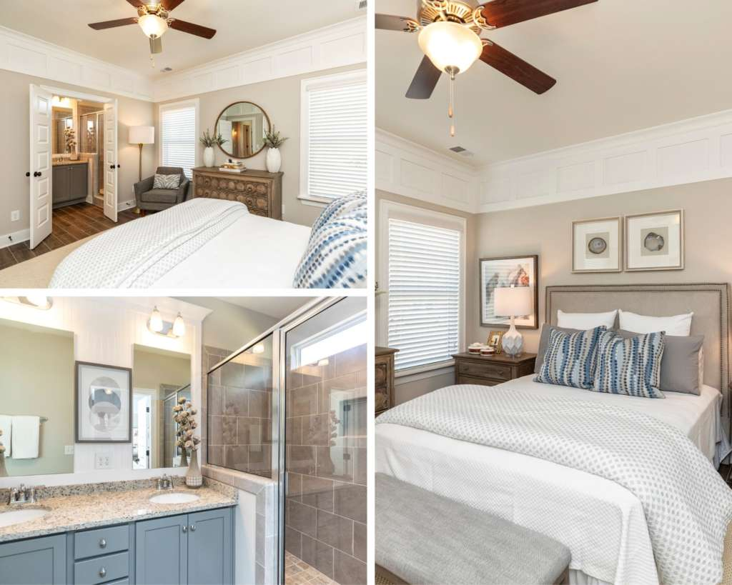 A luxurious master on main new designer home in Irondale