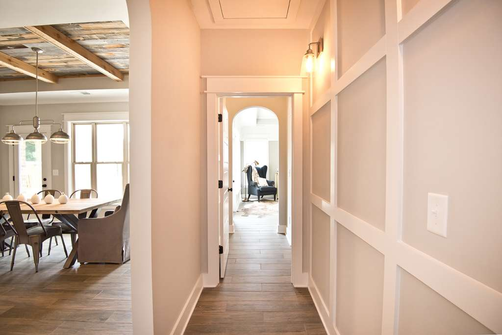 a hallway with design options in a Tower Homes home