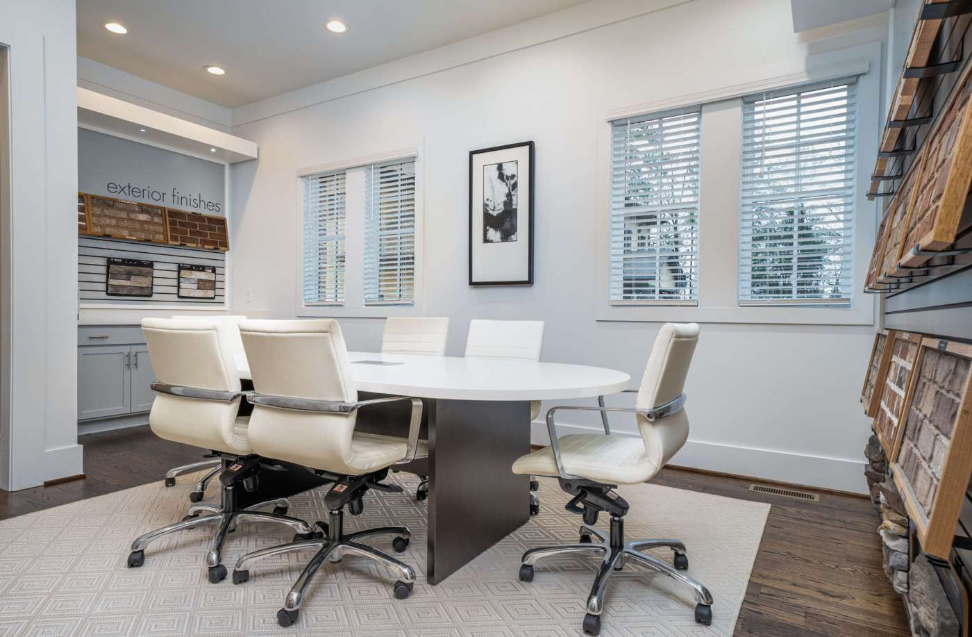 The meeting table in the Tower Homes Design Center